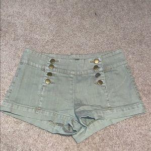 Light Olive Green Shorts